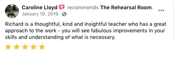 Caroline Lloyd Facebook review